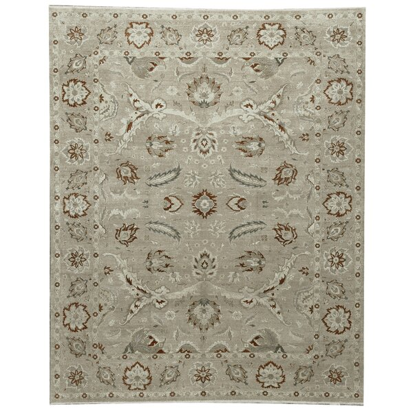 One-of-a-Kind Magan Hand-Knotted Gray 12'2 x 15' Wool Area Rug