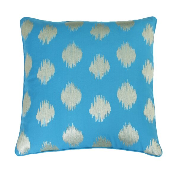 Petti Metallic Ikat Embroidered Throw Pillow by Bungalow Rose