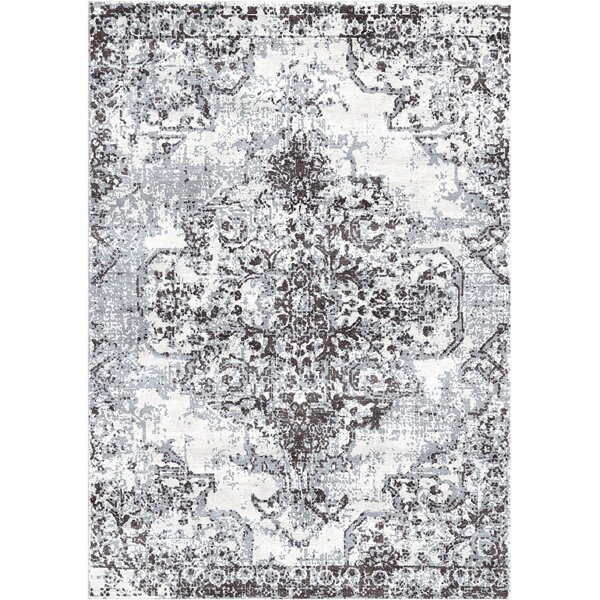 Aliza Handloom Gray Area Rug by Bungalow Rose