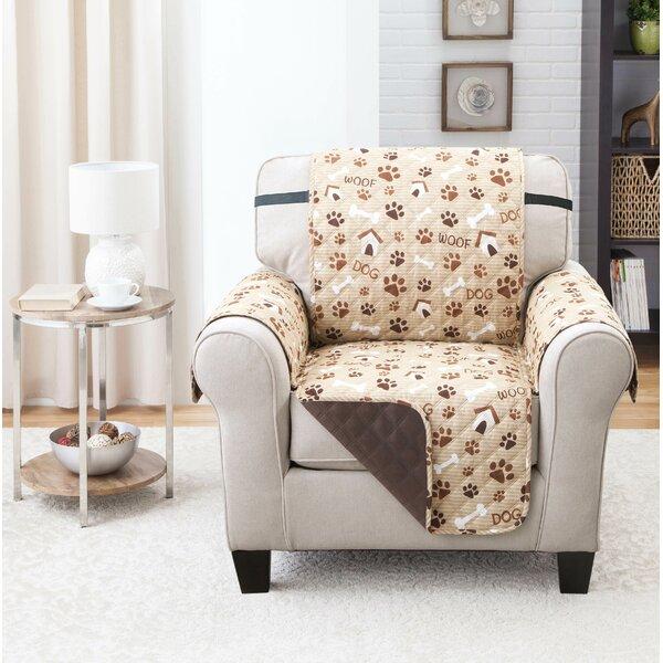 Print T-Cushion Armchair Slipcover by Winston Porter