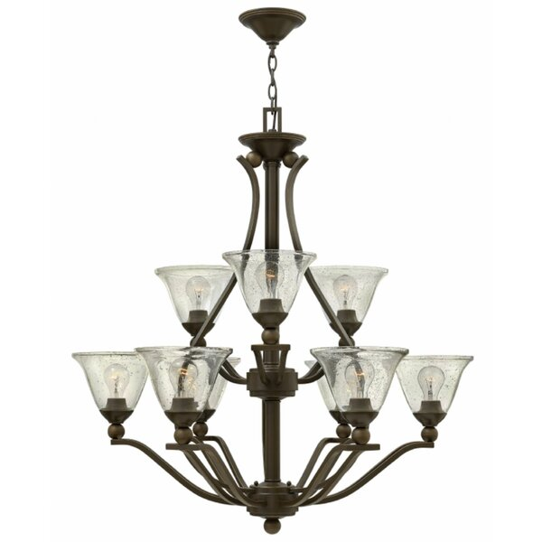 Abeilles 9 - Light Shaded Tiered Chandelier By Charlton Home