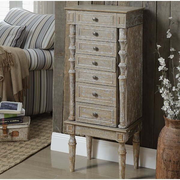 Muller Wood Free Standing Jewelry Armoire By August Grove Savings