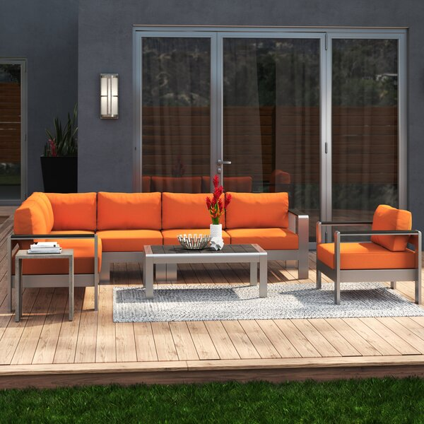 Coline 6 Piece Sectional Set with Cushions by Orren Ellis