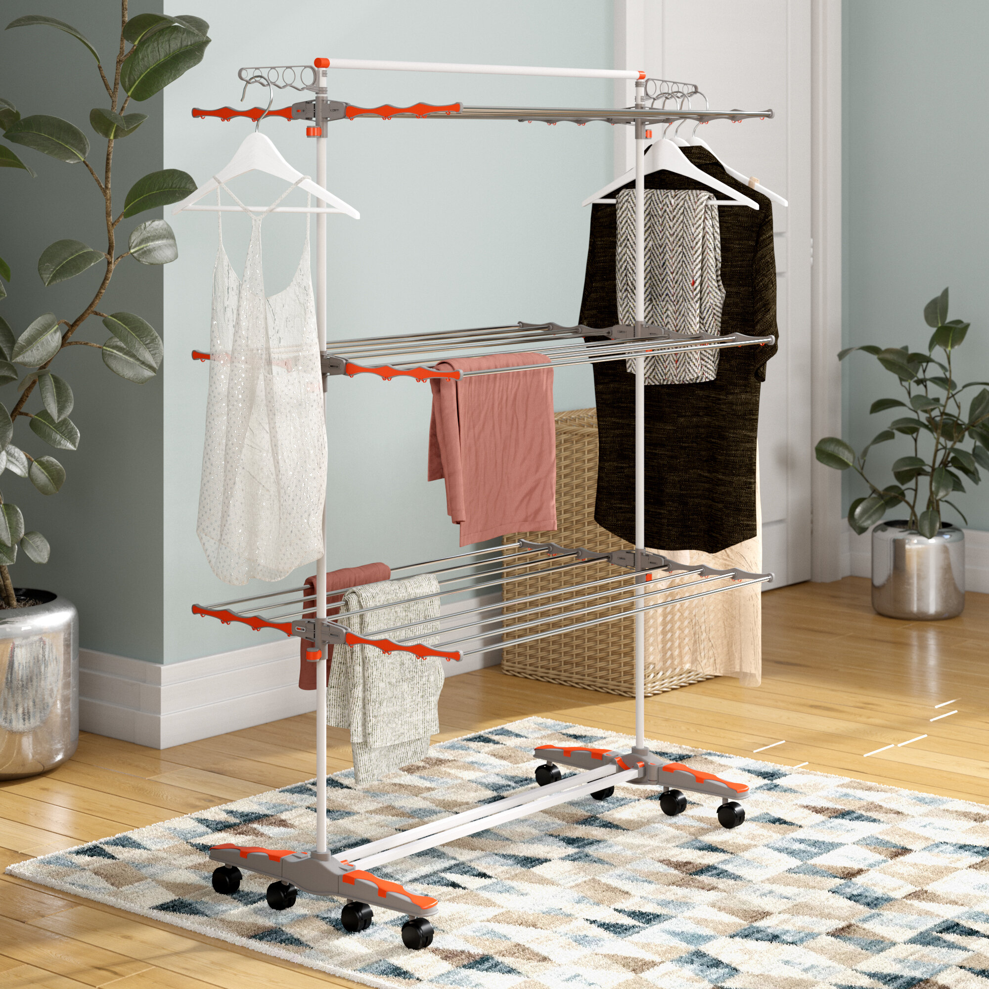 Rebrilliant Foldable & Compact Storage Clothes Drying Rack & Reviews
