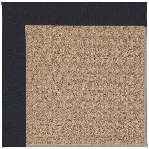 Lisle Machine Tufted Dark Navy/Brown Indoor/Outdoor Area Rug by Longshore Tides