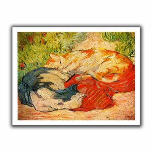 Cats' by Franz Marc Painting Print on Rolled Canvas by ArtWall