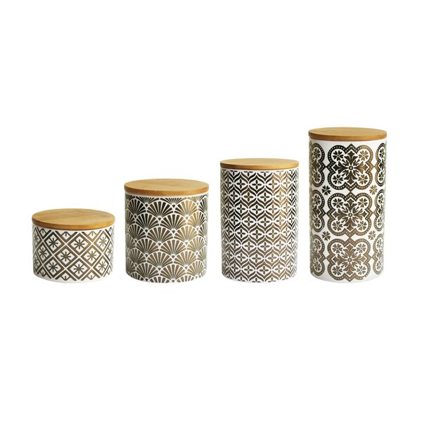 4 Piece Kitchen Canister Set by American Atelier