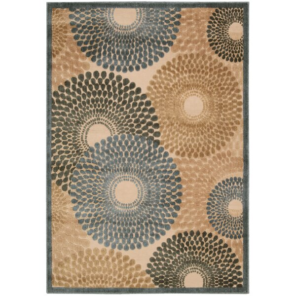 Brookview Brown/Blue Area Rug by Wade Logan