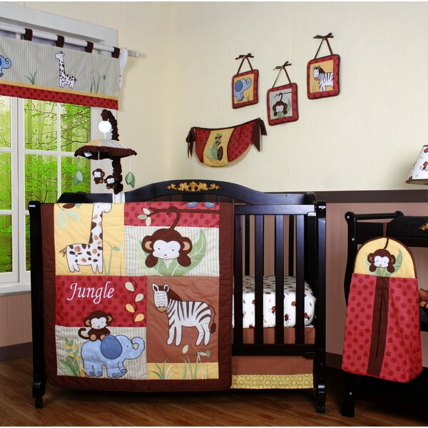Boutique Amazon Jungle Animal 13 Piece Crib Bedding Set by Geenny