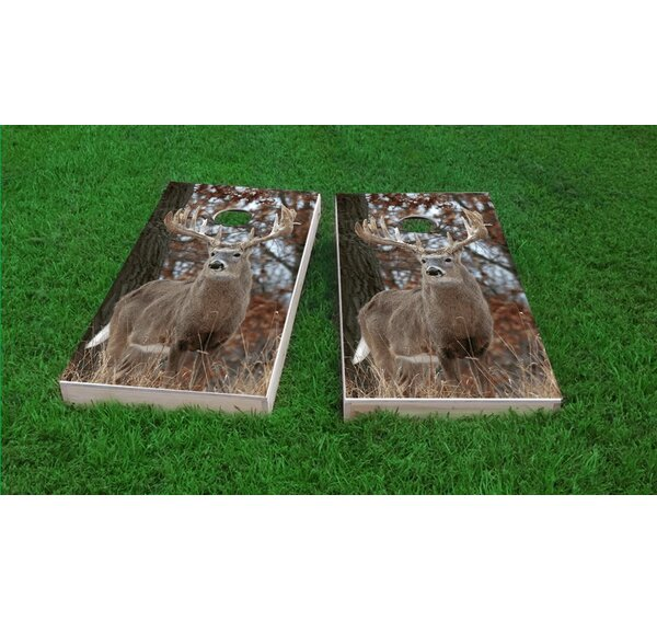 Tail Deer Buck Cornhole Game Set by Custom Cornhole Boards