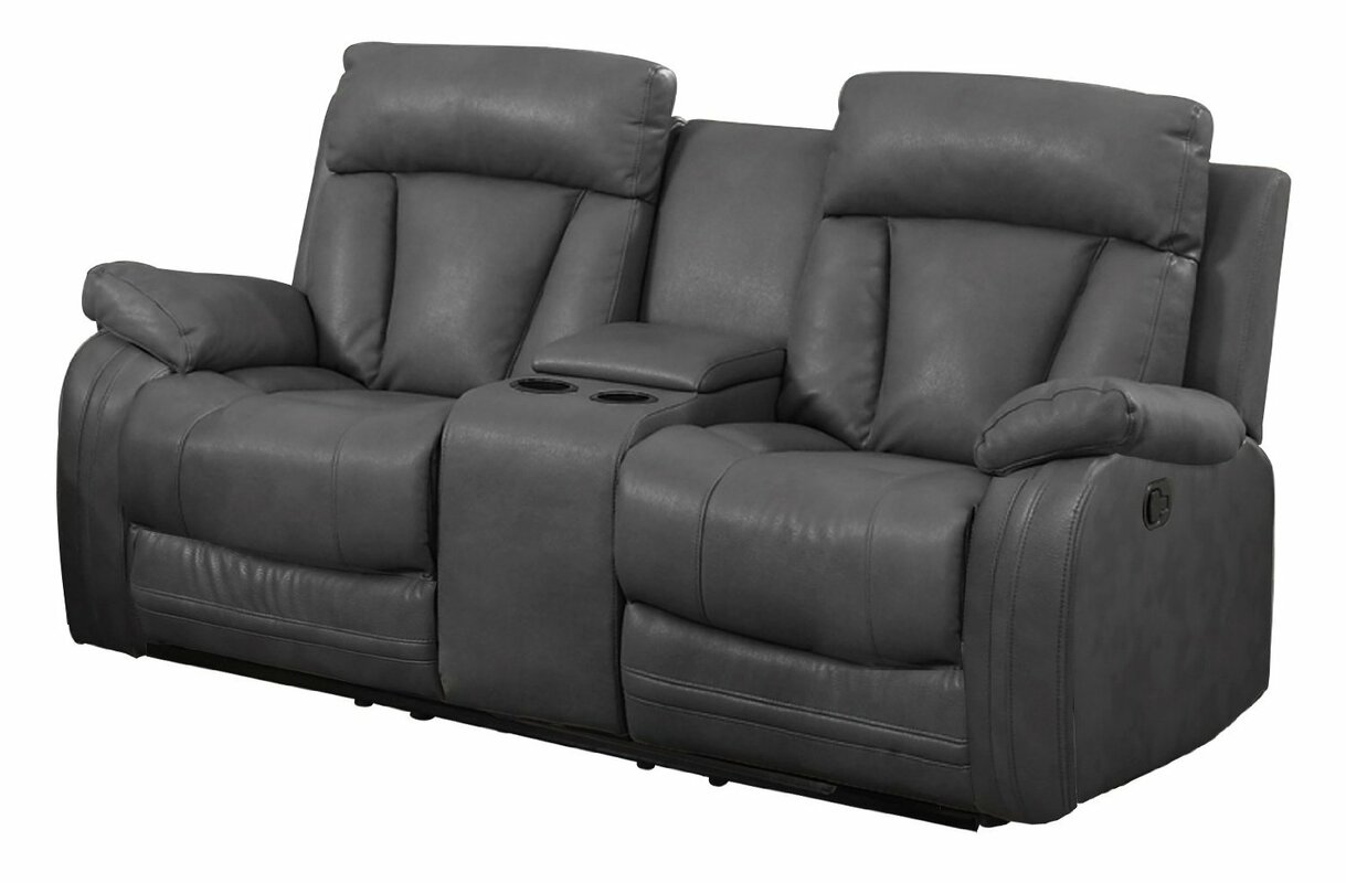 2 Seater Recliner Sofa With Console Catosfera Net
