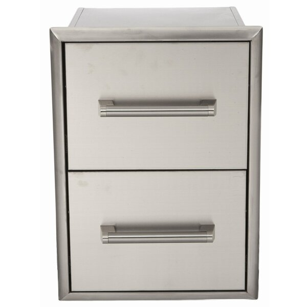 2 Drawer Stainless Cabinet by Coyote Grills