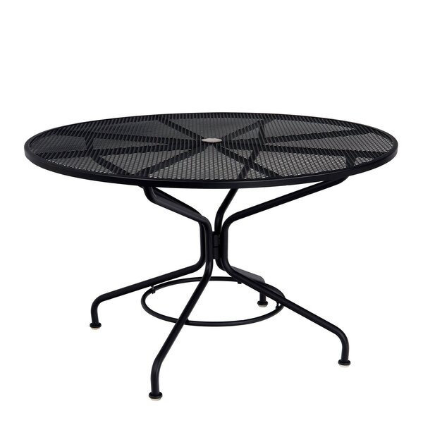 Mesh Metal Dining Table by Woodard