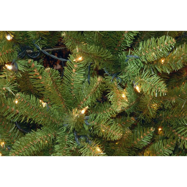 Kingswood Pencil Green Fir Artificial Christmas Tree with Clear Lights with Stand by Wrought Studio