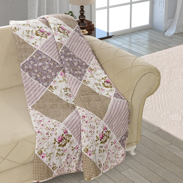 Beauville Patchwork Double Sided Multi Use Reversible Summer Quilt Blanket by August Grove