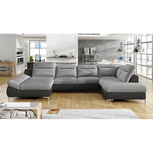 Laura Sleeper Sectional With Ottoman By Orren Ellis
