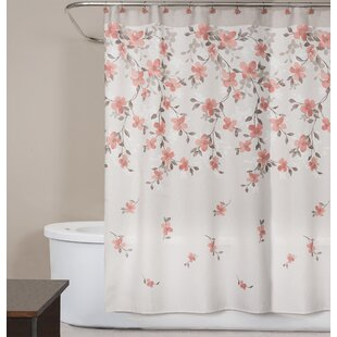Coral Colored Shower Curtain | Wayfair