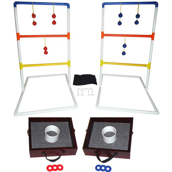 Lawn Toss Combo Washer and Ring Toss and Ladder Ball Set by Yolo Sports