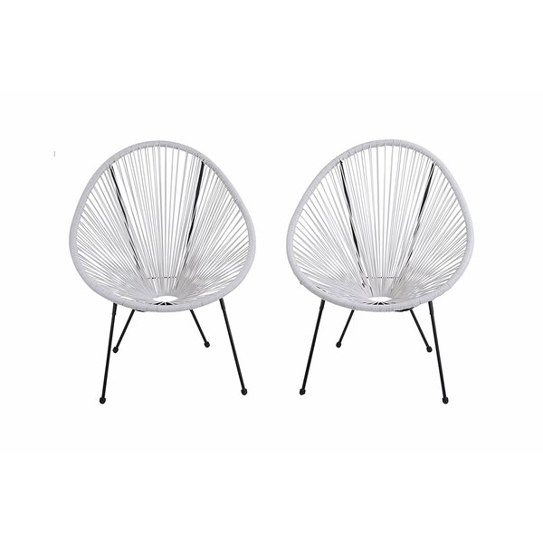 Bovina Oval Patio Chair (Set of 2) by Ivy Bronx