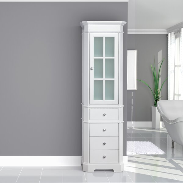 Conner 24 W x 80 H Linen Tower by Rosecliff Heights