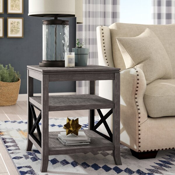 Julius Solid Wood End Table With Storage By Laurel Foundry Modern Farmhouse