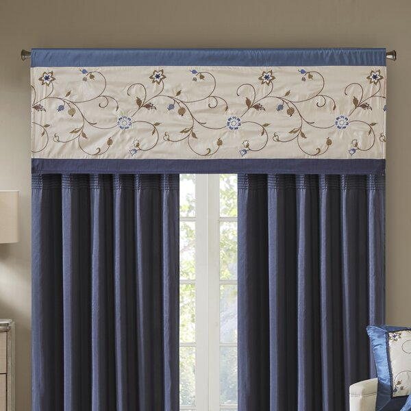 Maia Embroidered 50 Window Valance by Darby Home Co