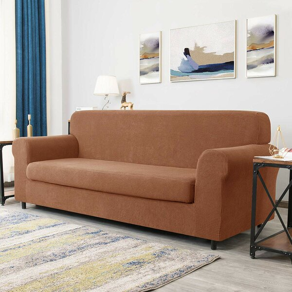Great Deals Arainy Jacquard Box Cushion Loveseat Slipcover