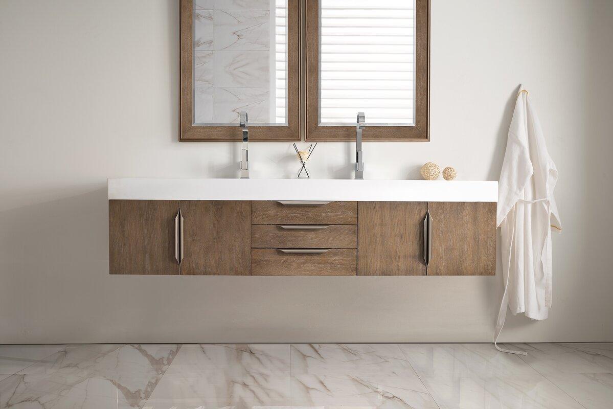 double bathroom vanity set. Hukill 73  Wall Mounted Single Bathroom Vanity Set Brayden Studio