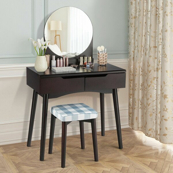 Hundt Vanity Set with Mirror by Gracie Oaks Gracie Oaks
