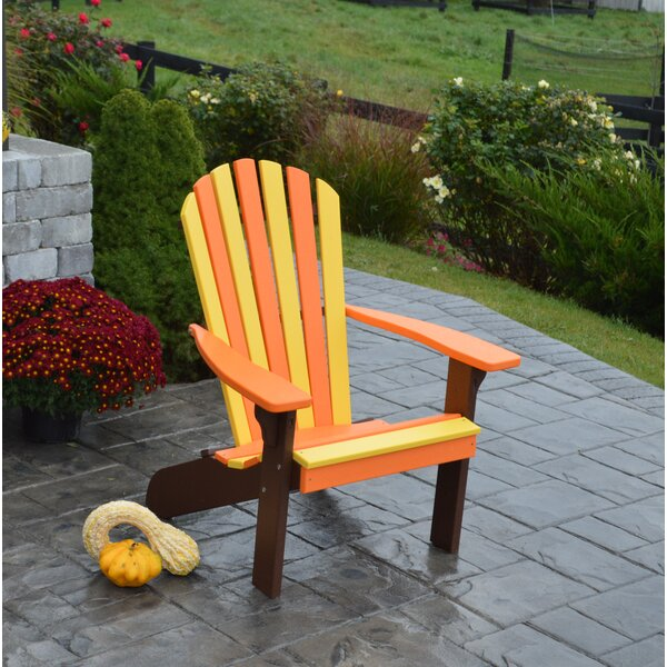 Carignan Fanback Plastic Adirondack Chair by August Grove