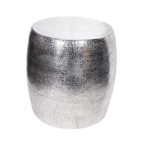 Soria Aluminum Hammered Stool by Brayden Studio