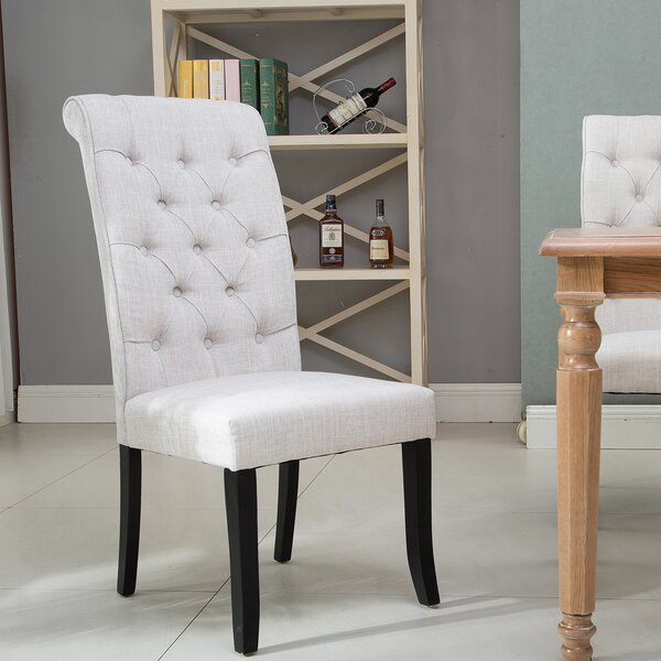 Peterkin Tufted Upholstered Parsons Chair (Set of 4) by Canora Grey Canora Grey