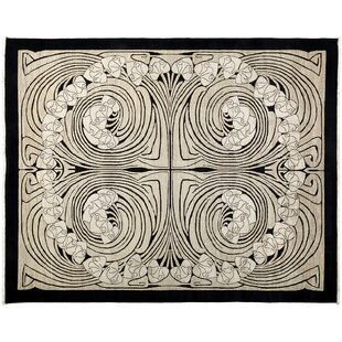 One-of-a-Kind Shalimar Hand-Knotted Black Area Rug By Darya Rugs