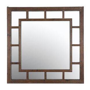 Loon Peak Craftsman Recycled Fir Wood Wall Mirror