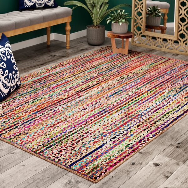 Sumitra Pink/Blue Area Rug by Bungalow Rose