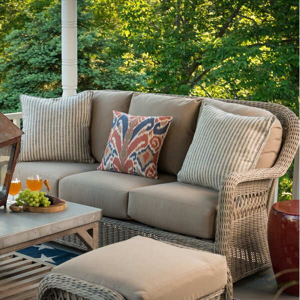 Washtenaw Patio Sofa with Cushions by Darby Home Co