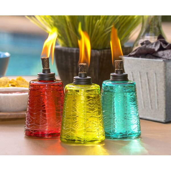 Glass Tabletop torch (Set of 3) by TIKI Brand