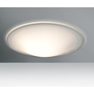 Order Luma 1-Light Outdoor Flush Mount By Besa Lighting