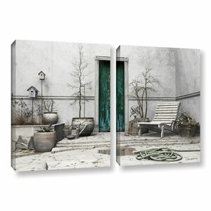Winter Garden by Cynthia Decker 2 Piece Photographic Print  on Wrapped Canvas Set by ArtWall