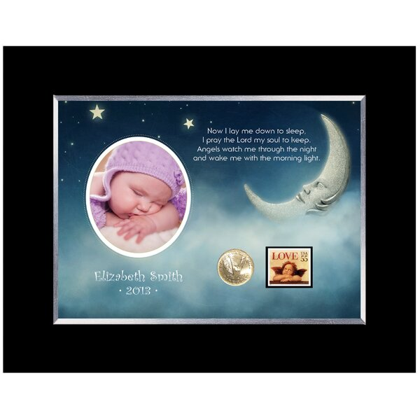 Now I Lay Me Down Personalized Picture Frame by American Coin Treasures
