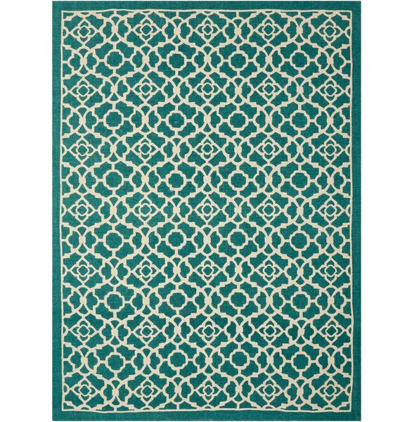 Color Motion Lovely Lattice Teal Rug by Waverly