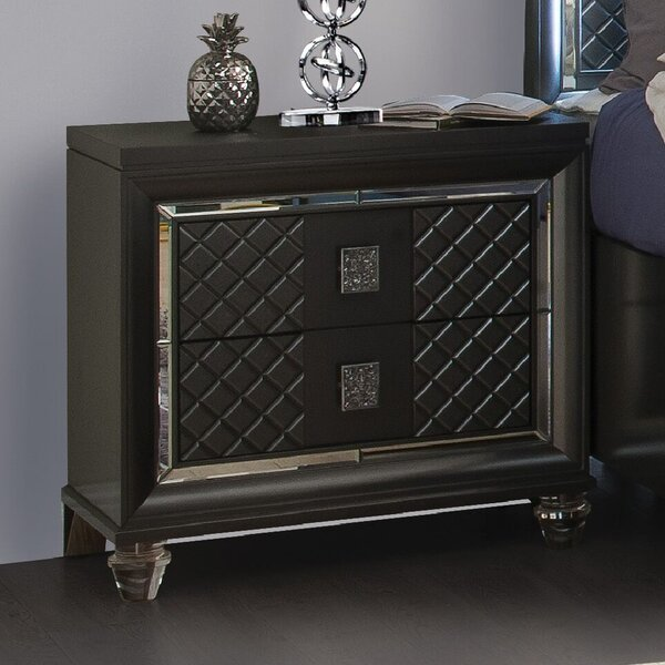 Sams 2 Drawer Nightstand by Everly Quinn
