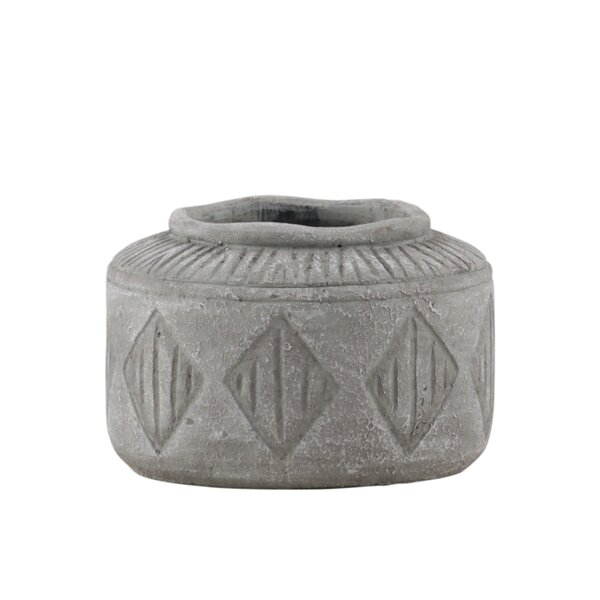 Cantwell Round Cement Pot Planter by Union Rustic
