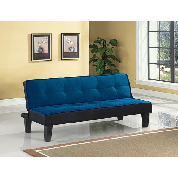 Emmanuelle Sturdy Flannel Fabric Adjustable Convertible Sofa by Latitude Run