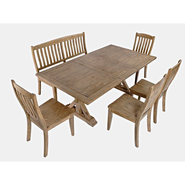 Carlyle Crossing 6 Piece Solid Wood Dining Set by Ophelia & Co. Ophelia & Co.