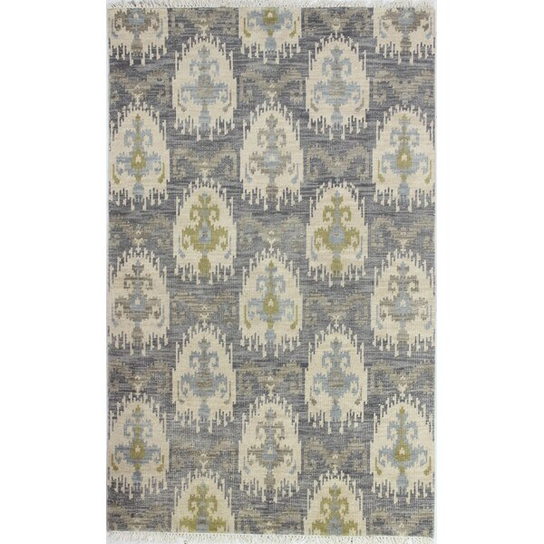 Kurtis Hand-Knotted Grey Area Rug by Mistana