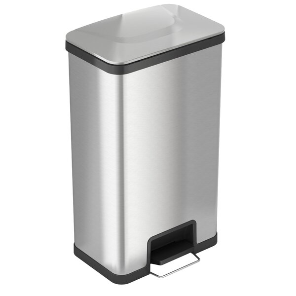 Air Step Stainless Steel 18 Gallon Step-On Trash Can by iTouchless