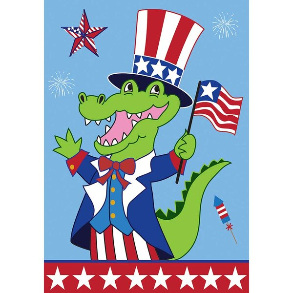Patriotic Uncle Sam Alligator Stars 2-Sided Garden Flag by Dicksons Inc