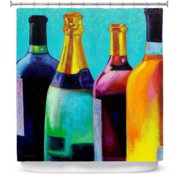 wine bottle shower curtain