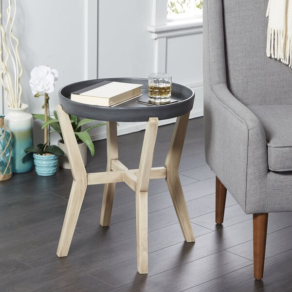 Layne Round End Table by Union Rustic